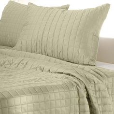Square Patter Quilted Comforter Set - Tan(@ Meijer.com) #MeijerDormDecor #DormDecor