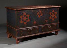 "Dimensions: Ht. 30 1/2 "", W. 51 ½"", D. 22 ¾"" Date / Circa: Circa 1810-20 Maker / Origin: York County, Pennsylvania Miscellaneous: Provena...http://www.oldehope.com"