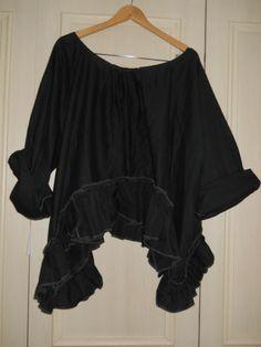 Jet Pearl OSFM w Ritanotiara Magnolia Bow Asymmetric Top Artist Shirt Lagenlook | eBay