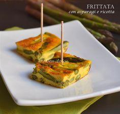 Frittata con asparagi e ricotta, ricetta al forno