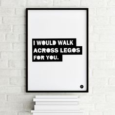 """Epic Design Shop """"Walk across Legos"""" Poster mit Text Design Shop, Legos, Lego Poster, Scandinavian Kids Rooms, Ikea Shopping, Cool Kids Rooms, Shops, Black And White Posters, Nursery Inspiration"""