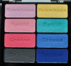 Wet n Wild Poster Child Eyeshadow Palette - loving these gorgeous bright colors!