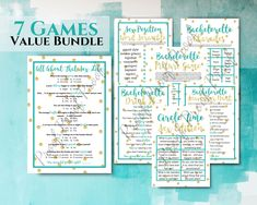 Bachelorette Party Games Bridal Shower Game Bundle Printable | Etsy