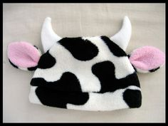 Fleece Hat Pattern for Baby and Children - PDF Sewing Pattern - DIY Bear Bunny Cat Cow Monster Devil. $5.00, via Etsy.