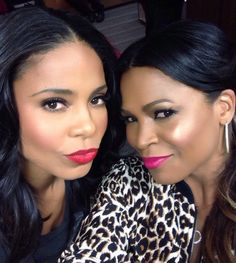 My two favorite women in Hollywood...ever! I love you Sanaa and Nia!! #baddies #naturalbeauties