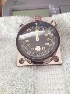"Working Heuer ""Monte-Carlo"" Three Button Rally Racing Stopwatch Rare Dash Mount"