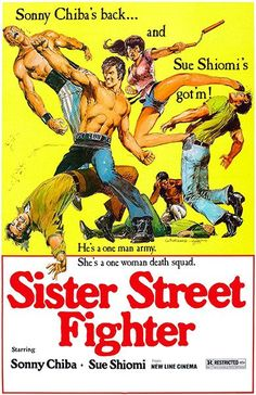 Sister Street Fighter Movie poster Metal Sign Wall Art x Caricature, Street Fighter Movie, Sonny Chiba, 1976 Movies, Art Movies, Kung Fu Movies, New Line Cinema, Martial Arts Movies, Gourmet