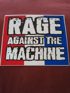 "Rage Against the Machine 5.25""x4.5"" STICKER DECAL new old stock"