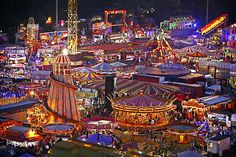 The famous Goose Fair in Nottingham which dates back more than 700 years - by far the biggest fair I've ever seen!