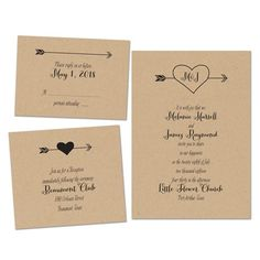 Heartfelt Love Wedding Invitation by David's Bridal #weddinginvites #fallwedding