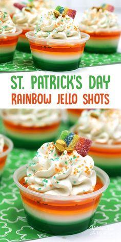 Patrick's Day Jello Shots - Kitchen Fun With My 3 Sons St. Patrick's Day Jello Shots - Kitchen Fun With My 3 Sons Patrick's Day cocktails Patrick's Day drinks St Patricks Day Drinks, St Patricks Day Food, Malibu Rum, Jolly Rancher, Tequila Sunrise, Jell O, Cool Whip, Bbq Party, Daiquiri