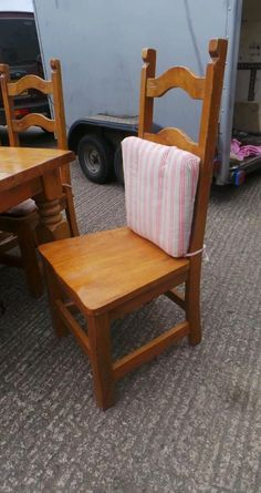 Farmhouse style pine chunky table and chairs | Dunmurry, Belfast | Gumtree
