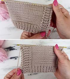 Crochet Stitches Patterns, Crochet Motif, Knitting Stitches, Knitting Designs, Knitting Projects, Baby Knitting, Stitch Patterns, Knitting Patterns, Knit Crochet