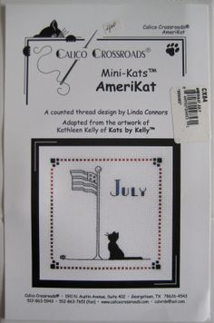 Calico Crossroads Kats By Kelly July Americat Mini by CSCDestash, £5.00