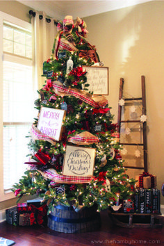 A Christmas Tree full of signs!