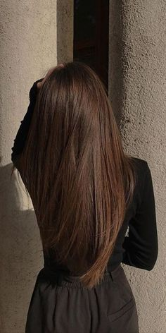 Hair Inspo, Hair Inspiration, Hair Shades, Aesthetic Hair, Brunette Hair, Hair Highlights, Pretty Hairstyles, Straight Hairstyles, Dark Hair