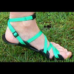 Barefoot sandály - 4 mm - pásek kolem kotníku | Zobrazit plnou velikost fotografie