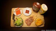 montaditos de melocotón - ingredientes