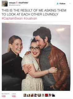 hahaha :D I'm jealous but they are adorable ❤️ #Colifer #CaptainSwan