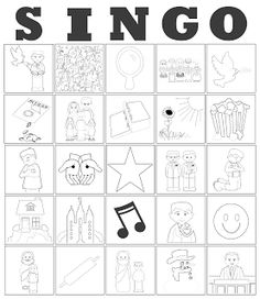 Printable, Customizable Primary Song Bingo Cards
