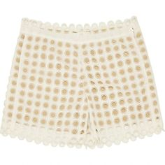 Pre-owned Chloé White Cotton Shorts ($260) ❤ liked on Polyvore featuring shorts, white, women clothing shorts, white shorts, pocket shorts, white cotton shorts, chloe shorts and cotton shorts