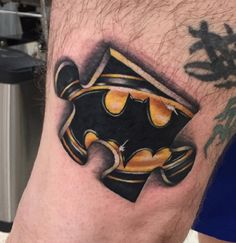 Superhero wanted! Some reall cool autism tattoo ideas on this site, like this Batman puzzle piece