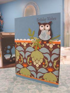 Krafting Kreations: Owl Birthday Card