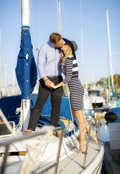 Engagement shoot with Rich Lander, www.chardphoto.com in Dana Point marina.