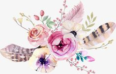 Bohemia,png image,vector,free-png-watercolor-flowers