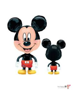 Mickey Air Walker balloon as pictured! 44 x 25. Perfect addition for any gift or party! Great for photo props, backdrops, party favors, table decor & much more!  -Inflate with helium and Mickey will glide across the floor! -Do not overfill balloons, they will pop -Balloons are shipped deflated -Reusable!  In most cases, balloons will ship same day.