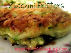 Zucchini Fritters from MOORE OR LESS COOKING