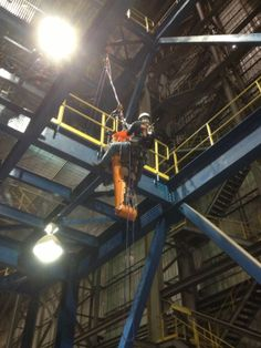 ARK Technical Rescue Training Services, Inc. Rope Rescue Training Class for Severstal steel plant in MS.