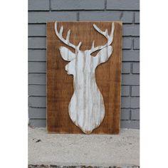 Grace Graffiti Coastal Wildlife Whitetail Deer Wall Decor