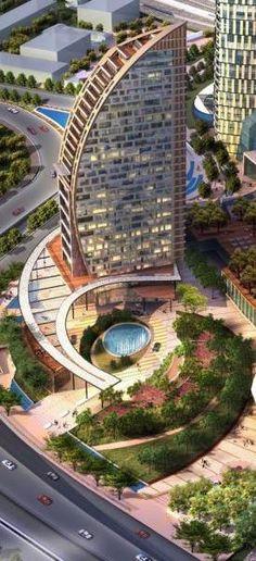 Trump International Hotel & Tower Baku, Azerbaijan designed by Mixity Design Ltd. ::  33 floors, height 130m