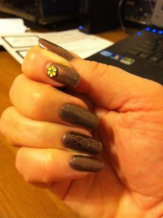 Nubar Jewel, stamping, and a Fimo flower