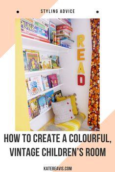 A colourful, vintage children's room - Kate Beavis Vintage Expert Vintage Boys, Vintage Children, Ikea Units, Teenage Room, Playrooms, Kidsroom, Boy Room, Room Inspiration, Bedrooms