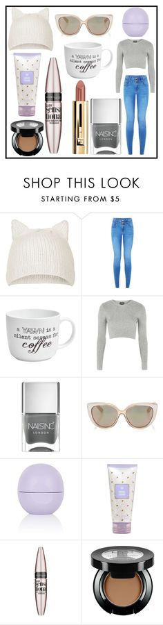 Relaxin' Saturday by silverangelxxy48 on Polyvore featuring Topshop, Jimmy Choo, Maybelline, Nails Inc. and Pfaltzgraff