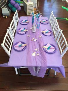 Mermaid Theme Birthday, Little Mermaid Birthday, Little Mermaid Parties, Hawaian Party, 6th Birthday Parties, 7th Birthday, Birthday Ideas, First Birthdays, Woman Costumes