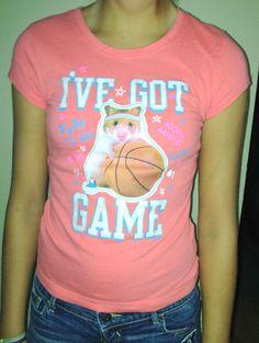 "JUNIOR GIRLS Size 8 JUSTICE Peach ""I've Got Game"" Hamster T-Shirt | eBay"
