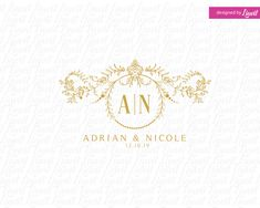 Dear Client, This is a digital print ready monogram that can be used as a wedding monogram for your wedding stationary for example, on save the date cards, your Wedding Logos, Monogram Wedding, Wedding Stationary, Floral Wedding, Wedding Decor, Wedding Invitations, Custom Logo Design, Label Design, Custom Logos