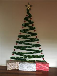 Space saving Christmas tree.