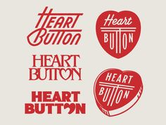 Heart Button designed by Simon Walker. Connect with them on Dribbble; the global community for designers and creative professionals. Design Retro, Graphic Design Art, Graphic Design Illustration, Layout Design, Web Design, Book Design, Wm Logo, Logo Branding, Branding Design