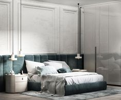 home interior design book Modern Classic Bedroom, Modern Classic Interior, Contemporary Bedroom, Master Bedroom Design, Home Decor Bedroom, King Bedroom, Wallpaper Floor, Bedroom Goals, Br House