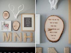 Love the details - Electic Woodland Nursery & Boy's Room