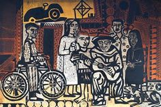 View Antonio Berni's artworks on artnet. Learn about the artist and find an in-depth biography, exhibitions, original artworks, the latest news, and sold auction prices. Social Realism, Art Moderne, Gravure, Woodblock Print, Art And Architecture, Printmaking, Original Artwork, Auction, Illustration