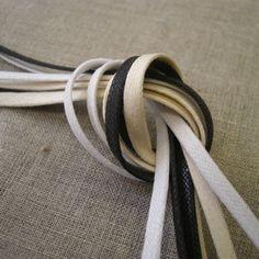 Waxed Cotton Corset Lacing 4mm - £1.20 + VAT per metre, £8.00 + VAT for 10m - ecru, white and black