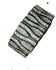 $23.99 Zebra Clear & Black Crystal BLING Stretch Bracelet ships in Zebra Gift Box by Jersey Bling: Jewelry: Amazon.com