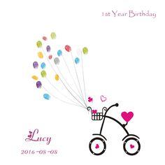 baby shower Guest bok Alternative, Birthday Party Gifts, Fingerprint Guest Book