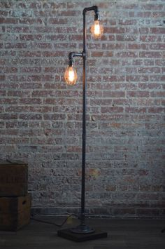 Pipe Floor Lamp Industrial Floor Lamp Edison Bulb Standing Lamp Bulb Cage Modern Lamps is part of Industrial floor lamps - 227991747287588 This design is not UL approved but does contain some UL listed parts Rustic Floor Lamps, Industrial Floor Lamps, Modern Floor Lamps, Modern Industrial, Diy Floor Lamp, Vintage Floor Lamps, Rustic Lamps, Black Floor Lamp, Industrial Pipe