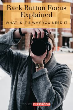 Updated] Back Button Focus Explained the Easy Way! - Photography, Landscape photography, Photography tips Newborn Photography Tips, Landscape Photography Tips, Photography Basics, Nikon Photography, Iphone Photography, Aerial Photography, Photography Business, Family Photography, Scenic Photography